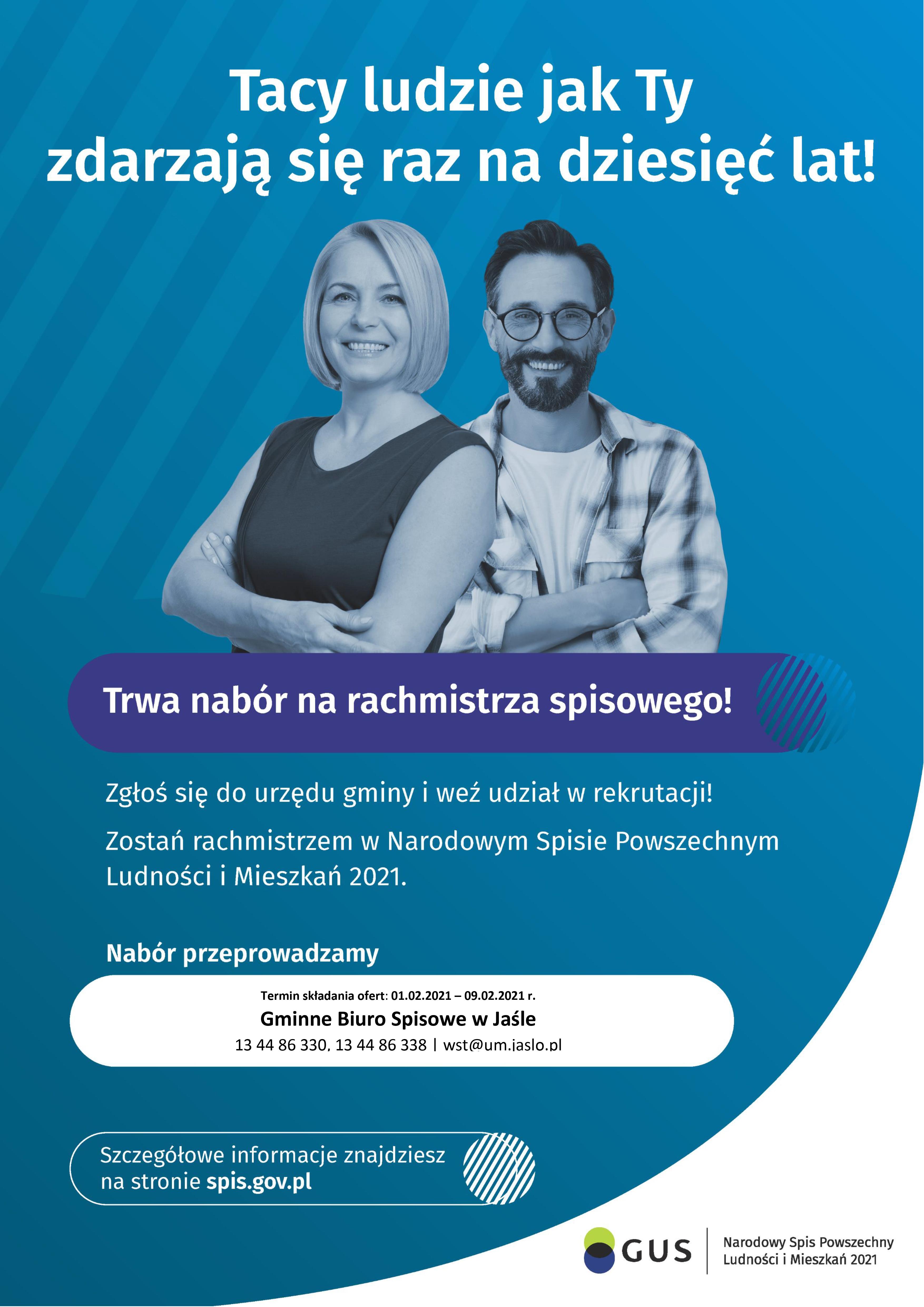 Plakat nabór rachmistrzów